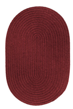 Rhody Rugs Solid S157 Red Wine Area Rug