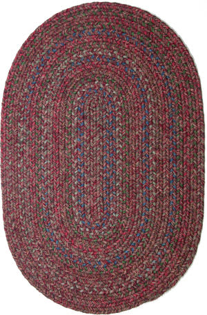 Rhody Rugs Sophia So45 Burgundy Red Area Rug