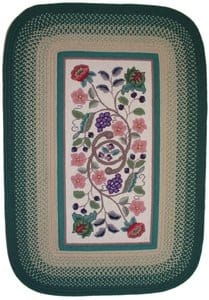 Rhody Rugs Braided Hook Collection SYIB202 Evergreen Area Rug