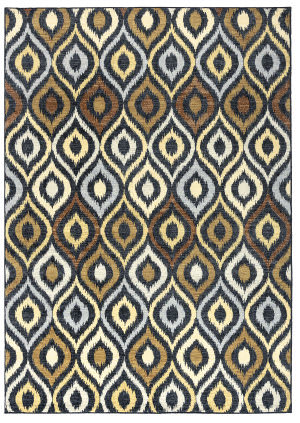 Rizzy Carrington Cg-4801 Black Area Rug