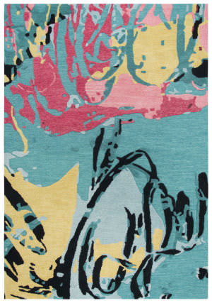 Rizzy Connie Post Cnp102 Teal Area Rug