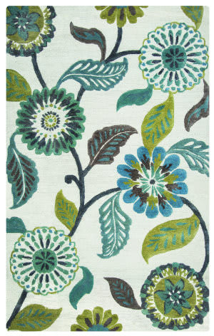 Rizzy Eden Harbor Eh-8642 Sage - Blue - Teal Area Rug