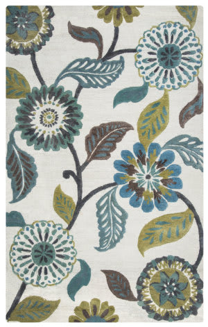 Rizzy Eden Harbor Eh8642 Sage - Blue - Teal Area Rug