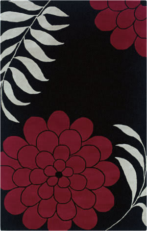 Rizzy Fusion Fn1035 Black Area Rug