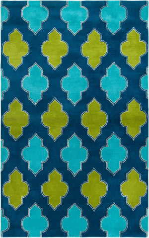Rizzy Fusion Fn2247 Blue - Teal Area Rug