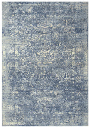 Rizzy Impressions Imp108 Blue - Ivory Gray Area Rug