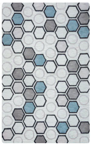 Rizzy Arden Loft-Lisbon Corner Lc9430 Light Grey Area Rug