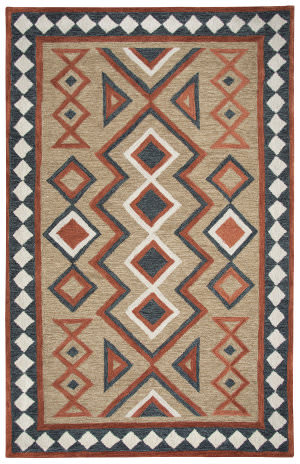 Rizzy Mesa Mz055b Brown Area Rug