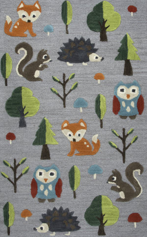 Rizzy Play Day Pd-585a Gray Area Rug