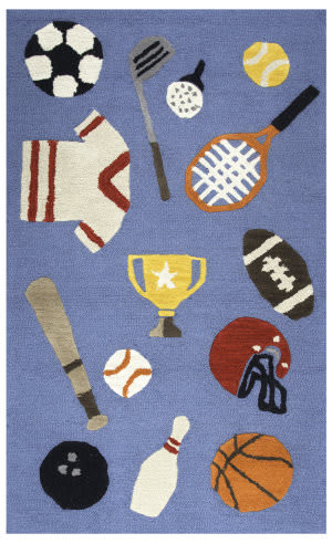 Rizzy Play Day Pd-596a Blue Area Rug