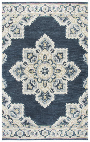 Rizzy Resonant Rs070b Dark Blue Area Rug