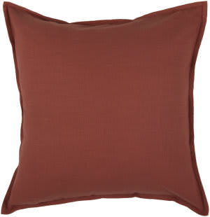 Rizzy Solid Cotton Pillow T03639 Paprica