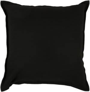 Rizzy Solid Cotton Pillow T3427c Black