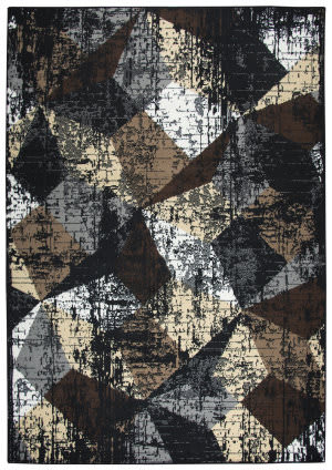 Rizzy Xcite Xi7283 Black Area Rug