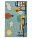 Rizzy Play Day Pd-587a Aqua Area Rug