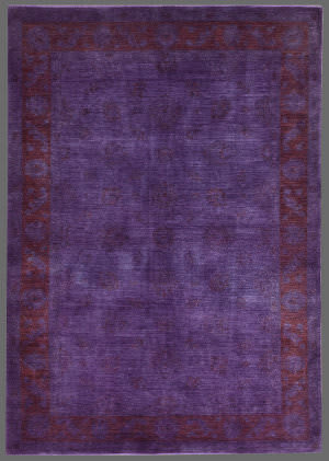 Rugstudio Overdyed 449442-616 Purple Area Rug
