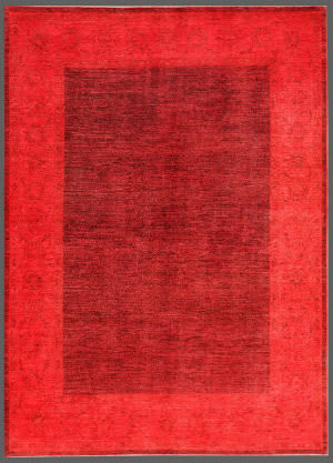 Rugstudio Overdyed 449454-616 Red Area Rug