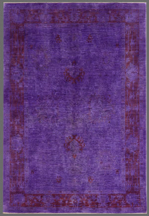 Rugstudio Overdyed 449462-616 Purple Area Rug