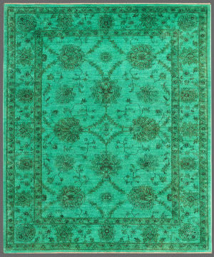Rugstudio Overdyed 449467-616 Green Area Rug