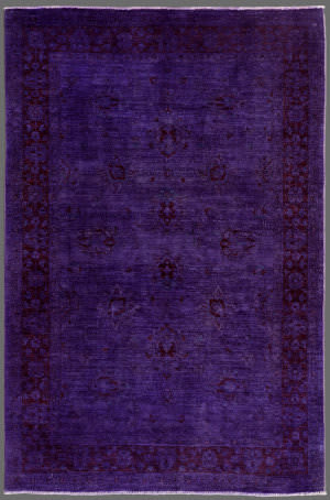 Rugstudio Overdyed 451788-616 Purple Area Rug
