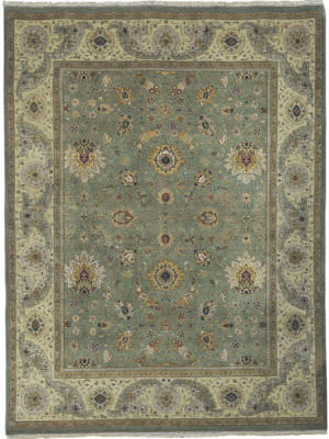 Rugstudio Sample Sale Gb-1 Mint - Gold Area Rug