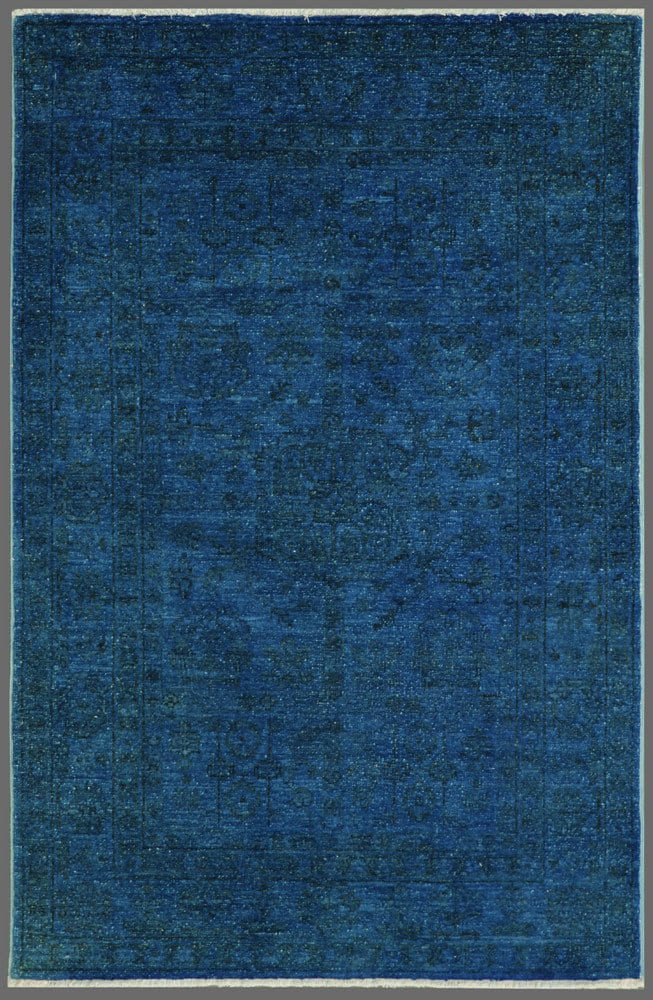 Rugstudio Overdyed 444192 616 Blue Rug Studio