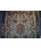 Rugstudio Sample Sale Aubusson Ivory - Teal Area Rug