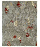 Rugstudio Sample Sale Br-805 Greige- Slate Abstract Area Rug