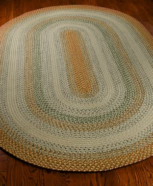 Safavieh Braided BRD303A Rust / Multi Area Rug