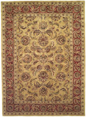 Rugstudio Sample Sale 46512R Gold / Red Area Rug