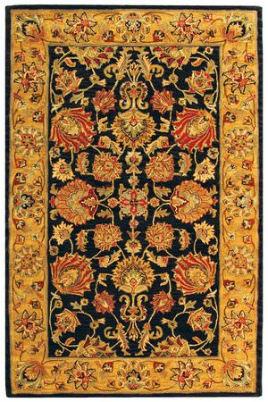Safavieh Heritage HG343E Charcoal / Gold Area Rug