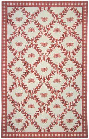 Rugstudio Sample Sale 46443R Ivory / Rose Area Rug