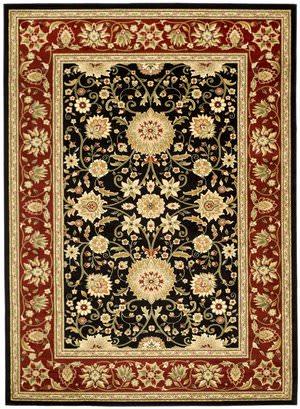 Safavieh Lyndhurst LNH212G Black / Red Area Rug