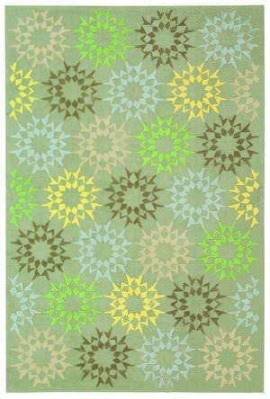 Martha Stewart Block Quilt MSR1843H OPAL / GREY Area Rug