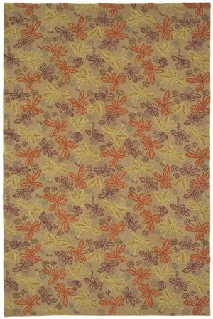 Martha Stewart Meadow MSR2320B CRIMSON / CLOVER Area Rug