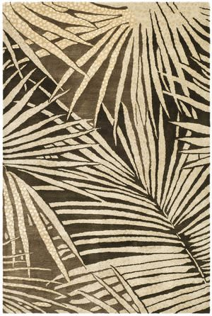 Martha Stewart Palms MSR3268A COCONUT / BROWN Area Rug