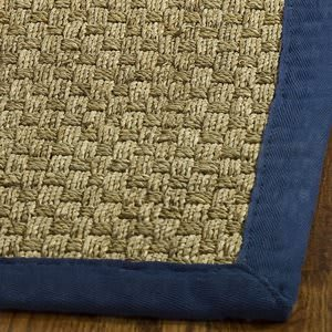 Safavieh Natural Fiber NF114E Natural / Blue Area Rug