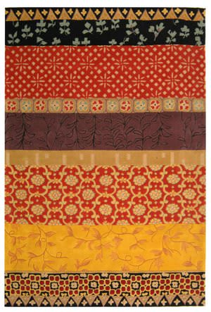 Safavieh Rodeo Drive RD622K Rust / Gold Area Rug