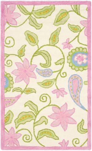 Safavieh Kids SFK351A Ivory / Pink Area Rug