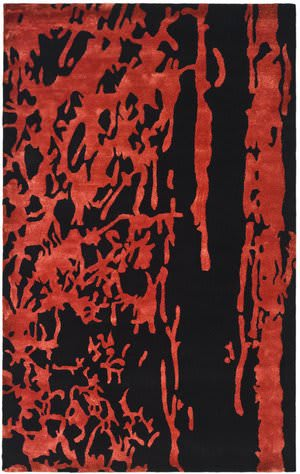 Safavieh Soho Soh326b Black / Red Area Rug