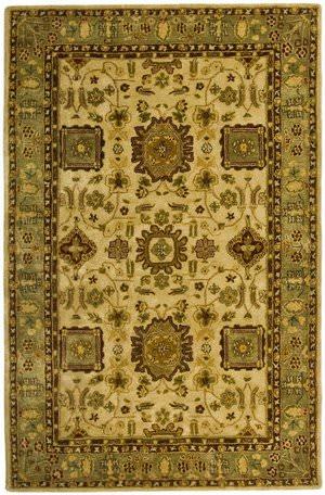 Safavieh Taj Mahal TJM106A Ivory / Green Area Rug