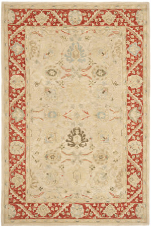 Safavieh Anatolia An569a Taupe / Red Area Rug