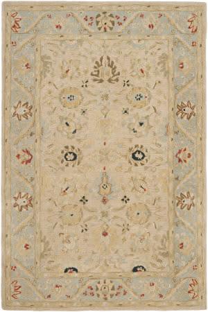 Safavieh Anatolia An569c Natural / Soft Turquoise Area Rug