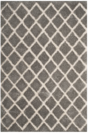 Safavieh Adriana Shag Arg780g Light Grey - Cream Area Rug