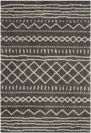 Safavieh Arizona Shag Asg741b Brown - Ivory Area Rug