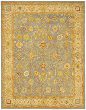 Rugstudio Sample Sale 46293R Blue / Ivory Area Rug