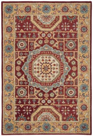 Safavieh Antiquity AT501Q Red - Orange Area Rug