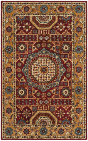 Safavieh Antiquity At501q Red - Orange Area Rug