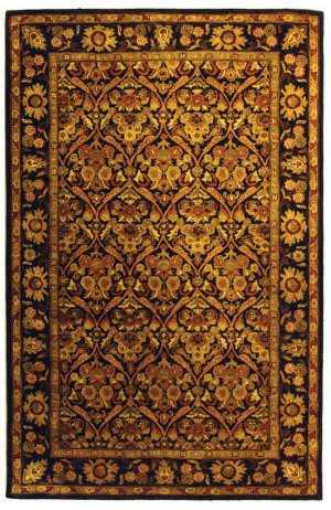 Safavieh Antiquities AT51B Dark Plum / Gold Area Rug