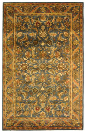 Rugstudio Sample Sale 49643R Blue / Gold Area Rug